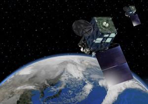 気象衛星ひまわり8号は、高度化ではないH-IIAロケットで打ち上げられた。(気象庁HPより)